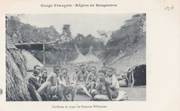 CONGO  Région De BANGASSOU  Coiffures Et Types De Femmes   N' SAKARAS  ( Plan Animé ) - Congo Francese - Altri