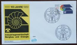 ALLEMAGNE - FDC 1989 - YT N°1268 - Syndicat Ouvrier De L'industrie Minière Et énergétique - FDC: Enveloppes