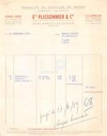 14-0785   1958 SPECIALITE DE VOLAILLES DE BRESSE ETS PLISSIONNIER A SAINT MARCEL LES CHALONS - M. MATHEY A CHAGNY - France
