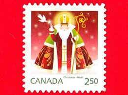 CANADA - Usato - 2014 - Natale - Christmas - Noel - Babbo Natale - St Nicolas With Dove - 2.50 - Usados