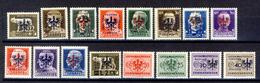1944 - Francobolli D'Italia Soprastampati - Lotticino Di 16 Valori MNH** - Occup. Tedesca: Lubiana