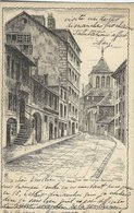 Geneve Rue Des Corps - Saints.   Used Card 1902 . Switzerland. S-4456 - GE Geneva