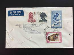 PAPOUASIE-NOUVELLE-GUINEE MADANG, 1964 LETTRE PAR AVION POUR LA SUISSE SWITZERLAND, PAPUA NEW GUINEA - Papua New Guinea