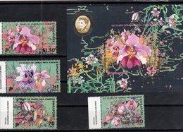 SINGAPORE , 2018, MNH, FLOWERS, ORCHIDS, VANDA MISS JOAQUIM, 4v+S/SHEET - Orchids