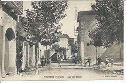TOURBES - JEU DE BALLON  ( Animées  ) - France