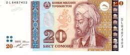 Tajikistan P.25  20 Somoni 2017 Unc - Tadjikistan