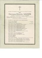 Geurges MAESEN 1924 1936 Et/v Yolande LEFEBVRE  ROLLEGEM-KAPELLE - Obituary Notices
