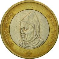 Monnaie, Maroc, Al-Hassan II, 10 Dirhams, 1995/AH1415, Paris, TB, Bi-Metallic - Maroc