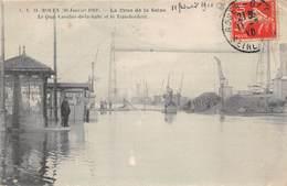 ROUEN - Crue De La Seine - Janvier 1910 - Le Quai Cavelier De La Salle Et Le Transbordeur - Rouen