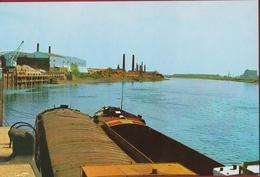 Niel Zicht Aan De Rupel Grote Kaart Binnenschip Peniche Barge Steenbakkerij (In Zeer Goede Staat) - Niel