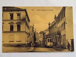 C.P.A. : Rhenanie Palatinat : IDAR : Mittlere Hauptstrasse Mit Postamt, Tramway - Idar Oberstein