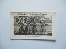 IMAGE DELESPAUL-HAVEZ N°35 DANSEUSES CAMBODGIENNES - Chocolat