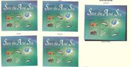 1996 Save Aral Sea - Joint Issue Of Kazakhstan, Uzbekistan, Tajikistan, Turmenistan And Kyrgistan Full 5 MS MNH** (hj18) - Gemeinschaftsausgaben