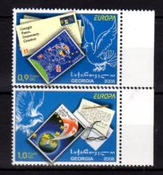 2008 Georgia- Europa CEPT - Letter Writing -MNH**  - MI 560/561 (hj18) Stamp On Stamp - Georgien