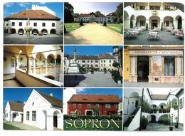 Ungheria Sopron 9 Vedute Viaggiata 1992 - Hungary