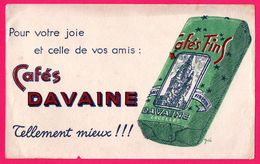 BUVARD - Cafés DAVAINE - Lecelles - DELA - Café & Thé