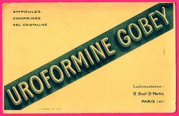 BUVARD Epais - Uroformine Gobey - Laboratoire 12, Bld St Martin Paris - Ampoules Comprimés Sel Cristallisé - F. CAUBERE - Chemist's