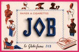 BUVARD - JOB - Papier à Cigarettes - Le Globe Fume - Chinois - Américain - Paysan - Noir .... - Tobacco