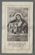 ES5179 SS. Sacramento RICORDO COMUNIONE PASQUALE 1924 S. CATERINA DI VIA SARAGOZZA BONONIA BOLOGNA Santino - Religione & Esoterismo