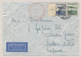Deutsches Reich - 1936 - 50pf & 75pf Luftpost LZ129 Nach Nordamerika On Cover Sent To New York - Duitsland