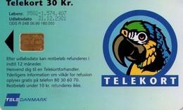 TARJETA TELEFONICA DE DINAMARCA. TDD024B - PARROT B. (029) - Dinamarca