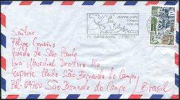 France 1978 Naval Post PORTE HELICOPTERES JEANNE D'ARC + ESCORTEUR FORBIN Navire Map Slogan Pmk Maritime Cover Marine - Naval Post