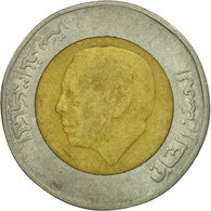 Monnaie, Maroc, Al-Hassan II, 5 Dirhams, 1987/AH1407, Paris, TB+, Bi-Metallic - Maroc