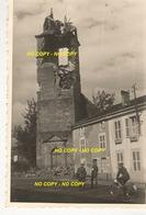 WW2 RARE ! PHOTO ORIGINALE Soldats Allemands à DOCELLES Clocher Détruit Près Bruyères Epinal VOSGES 88 - 1939-45