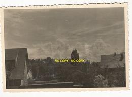 WW2 PHOTO ORIGINALE ALLEMANDE Clocher église Ko à DOCELLES  Près Bruyères Epinal VOSGES 88 1940 - 1939-45