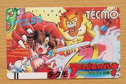 Japon Japan Free Front Bar Balken Phonecard (F) - / 110-19897 / Tecmo - Comics