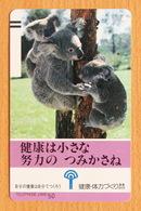 Japon Japan Free Front Bar Balken Phonecard (F) - / 110-21994 / Koala - Phonecards