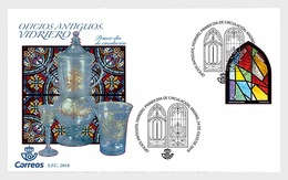 Spain 2018 - Ancient Crafts - Glazier FDC - 1931-Hoy: 2ª República - ... Juan Carlos I