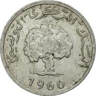 Monnaie, Tunisie, Millim, 1960, Paris, TB, Aluminium, KM:280 - Tunisie