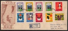 ZANZIBAR / 21-6-1964 ENVELOPPE FDC RECOMMANDEE POUR DAR ES SALAAM (ref 2631) - Zanzibar (1963-1968)