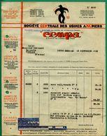 37 Tours Usines à Bégles, Schiltigheim, Bagnolet Cempa Usine A Papiers 13 Septembre 1935 - Printing & Stationeries
