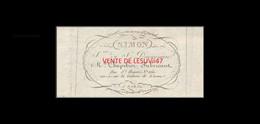 """PARIS  """" SIMON MARCHAND CHAPELIER, FABRICANT, RUE SAINT HONORE, N°: 260, 1823. - France"""