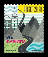Poland 2018 Mih. 5021 Transnational Highway Network Via Carpatia MNH ** - 1944-.... Republic