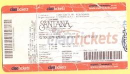 CONCERTO - SANTANA - Biglietto D'ingresso - Ticket - Poltronissima Numerata - Tickets D'entrée