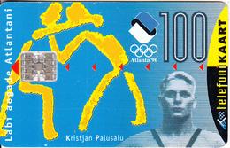 ESTONIA - Kristjan Palusalu/Atlante 96 Olympics, Tirage 50000, 03/96, Used - Sport