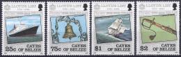CAYOS DE BELICE 1984 - Yvert #10/13 - MNH ** - Belice (1973-...)