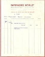 IMPRIMERIE MORLET   LE LAVANDOU VAR  1942 - 1900 – 1949