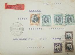 O) 1930 CHILE, JOSE DE BALMACEDA SCT C6D 5p - JOSE JOAQUIN PEREZ SCT C18 30c- MANUEL RENGIFO SCT 145 40c, AIRMIAL FROM V - Chile