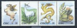 Irlande 2000  N°1216/1219 Neufs En Bande Année Du Dragon, Timbres De Souhaits - Neufs