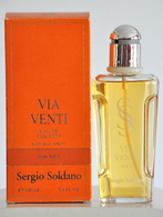 Sergio Soldano Via Venti For Men Eau De Toilette Edt 100ML 3.4 Fl. Oz. Spray Perfume For Men Rare Vintage Old 1990s - Parfum (neuf Sous Emballage)