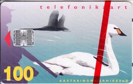 ESTONIA - White Swan, Tirage 15000, 04/97, Mint - Estonia