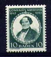 BADE - 47* - CONRADIN KREUTZER - French Zone