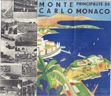 PRINCIPAUTE DE MONACO  Dépliant Touristique - Dépliants Touristiques