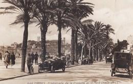 CPA Photo Cannes (06) Promenade Sur La Croisette Et Le Mont Chevalier LL N° 244 Rare Voitures 1930 - Cars