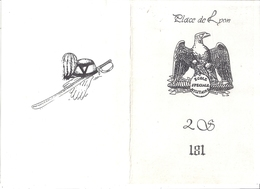 ECOLE SPECIALE MILITAIRE  PLACE DE LYON  - MENU  1986 - Documents