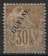Guyane 1892 N° 24 Neuf * - Ongebruikt